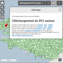 Téléchargement du plan cadastral informatisé en formats vecteur